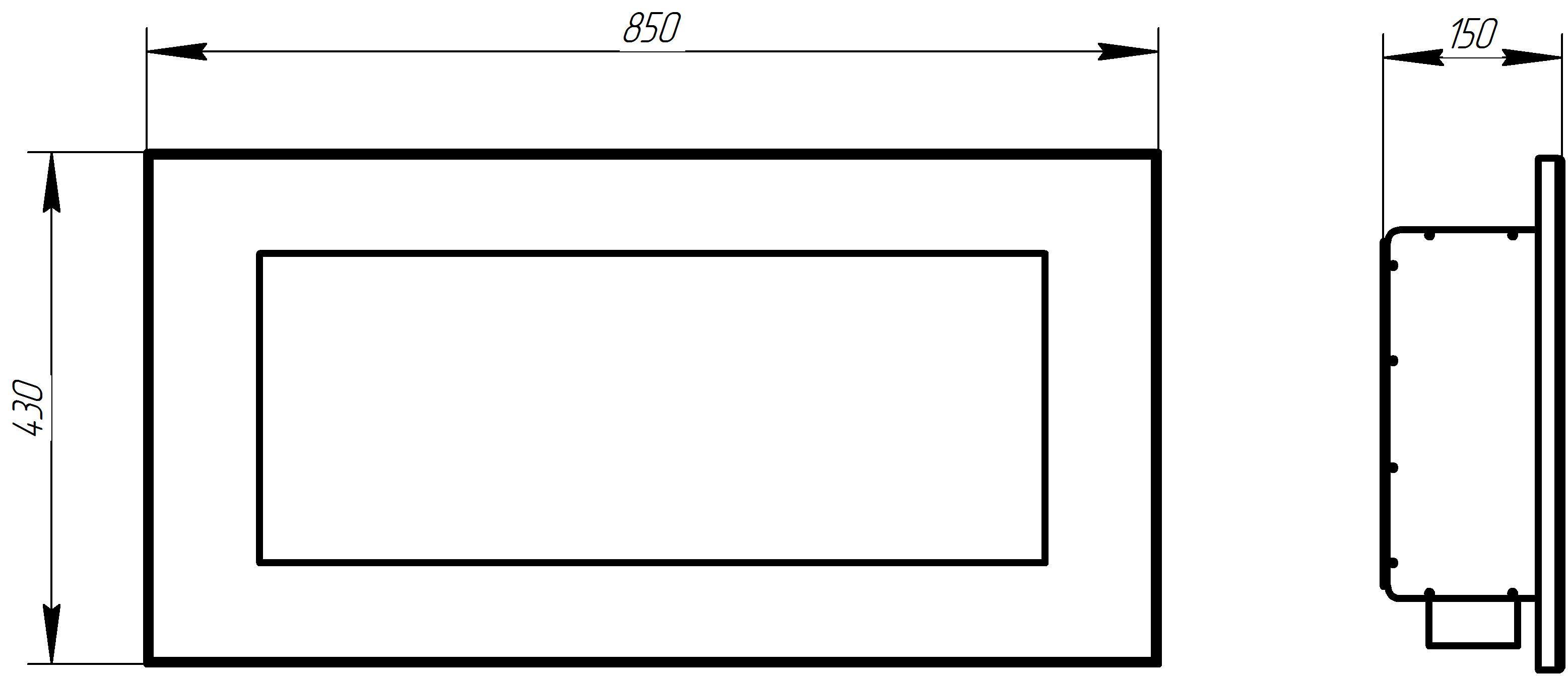 Встраиваемый биокамин Window black