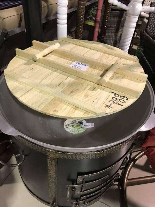 Кованая печка с казаном (60 л)
