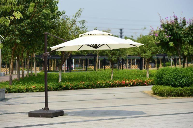 зонт уличный, 3*3м, молочный, круглый