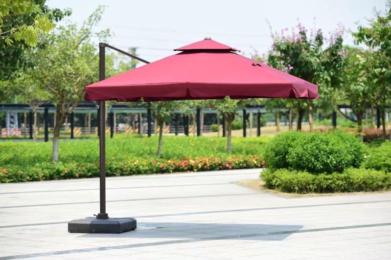 зонт уличный, 3*3м, бордовый