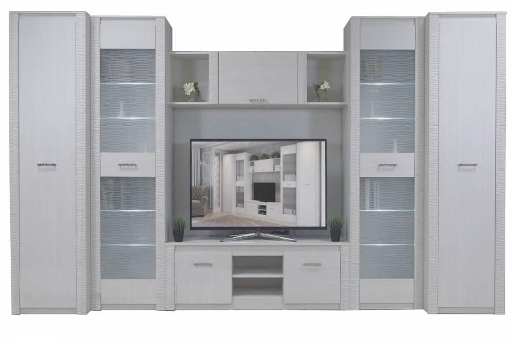 Гамма 20, Комплект для гостиной (4,177 м), Ясень анкор светлый/Сандал светлый, СВ Мебель
