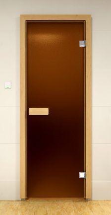 Дверь для сауны Бронза Матовое