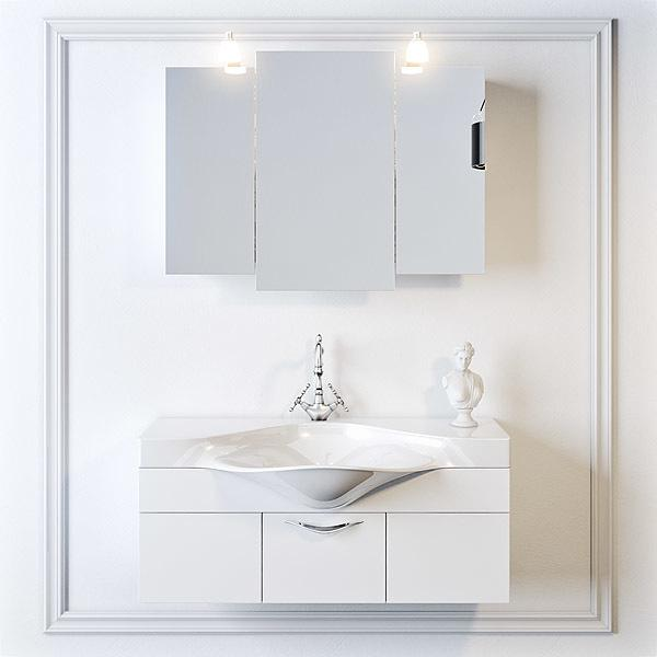 """Шкаф-зеркало """"Бродвей"""" со светильником"""