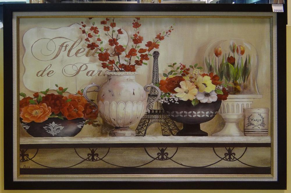 "Постер в багете ""Цветы Парижа"""