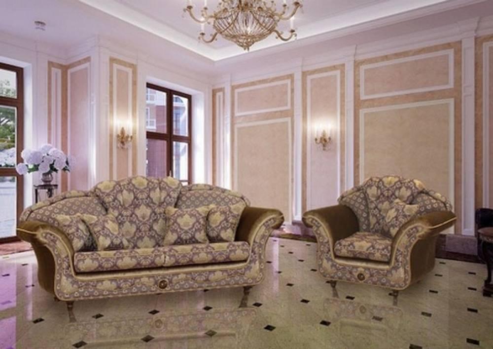 Лувр диван с 2мя креслами