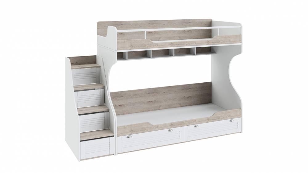 Кровать двухъярусная с приставной лестницей «Ривьера»