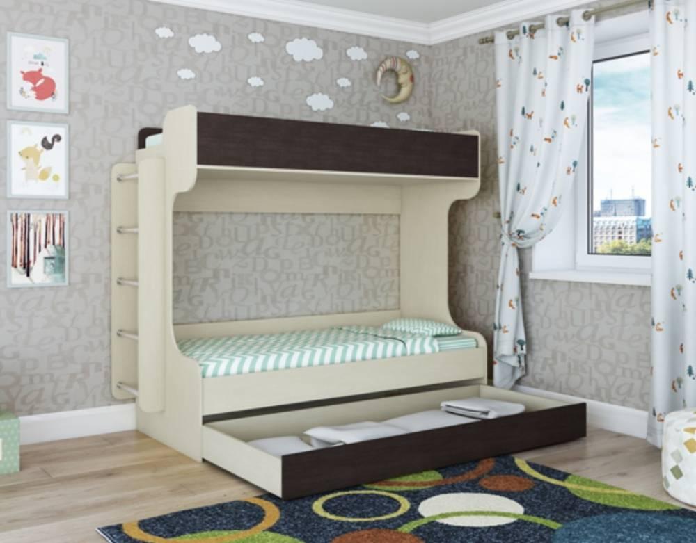 Элиза кровать 2-ярусная с выдвижным спальным местом
