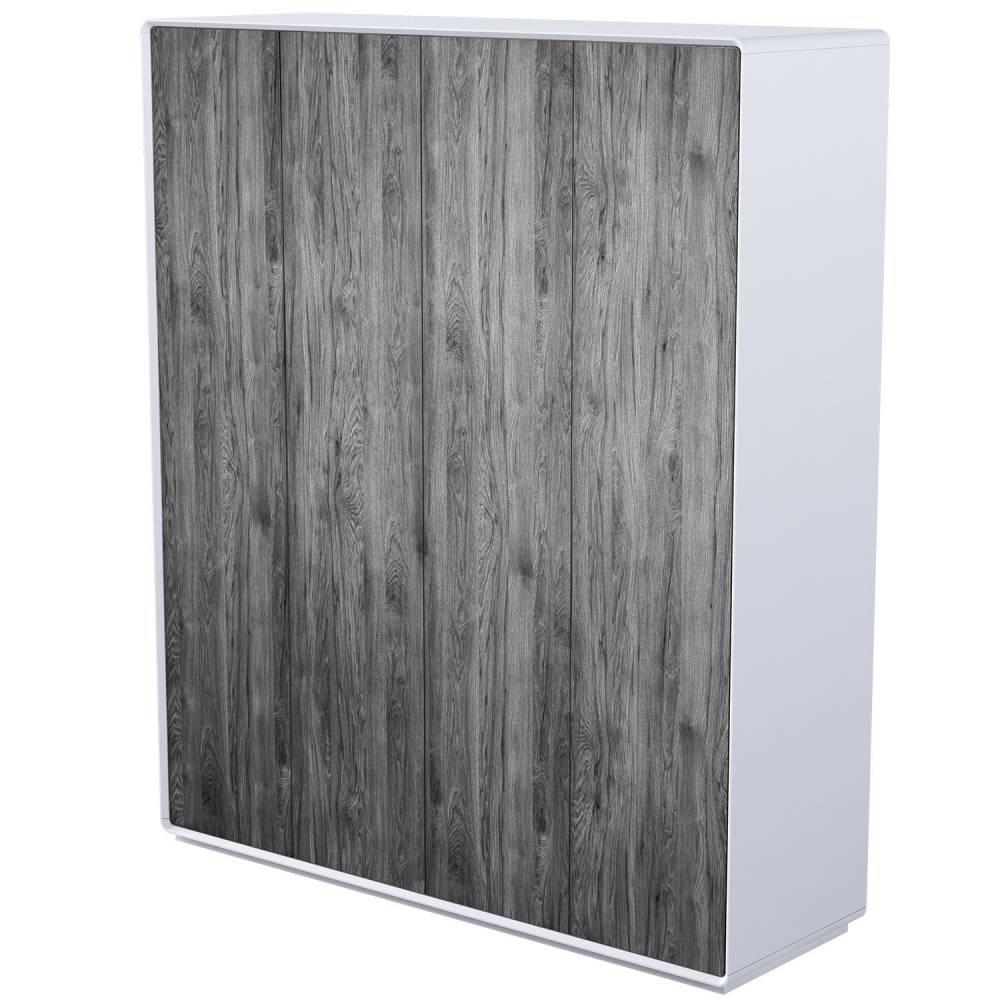 Шкаф Астрид 4-х дверная серый