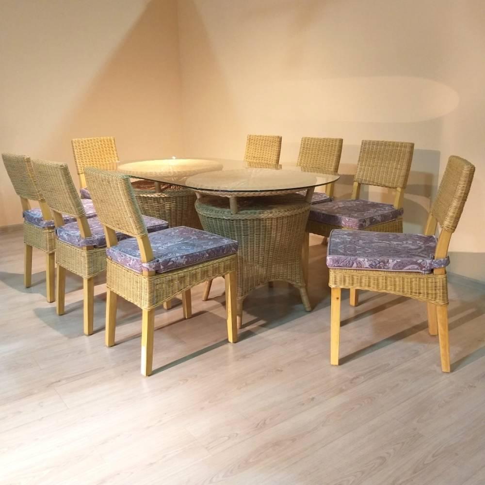 "Плетенный комплект мебели ""S-072+T-150 Round"""