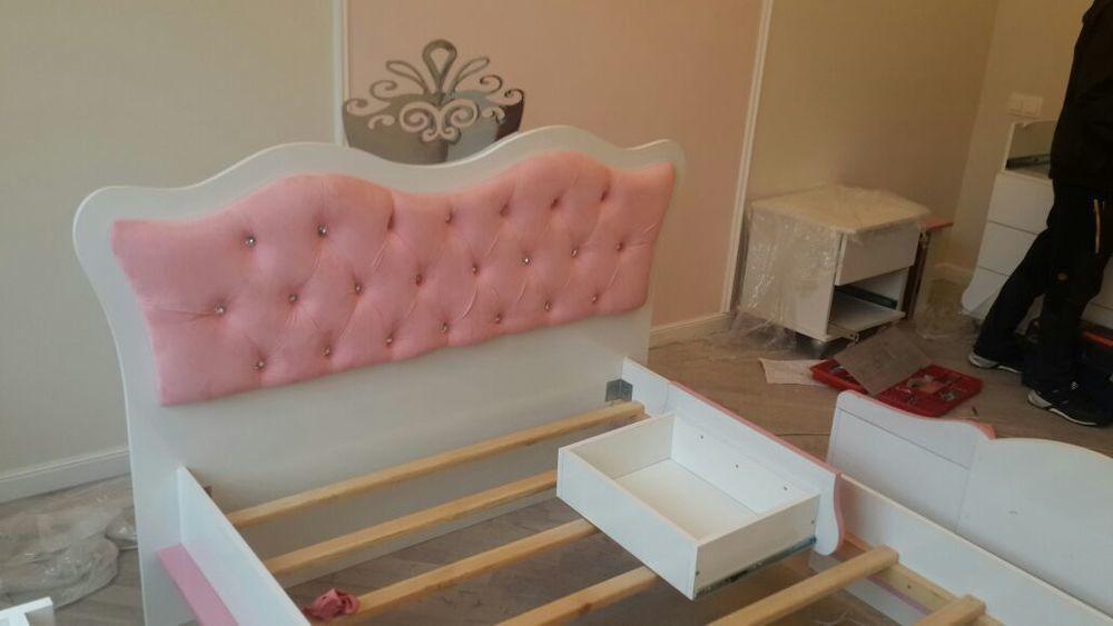 Кровать Принцесса Розовая