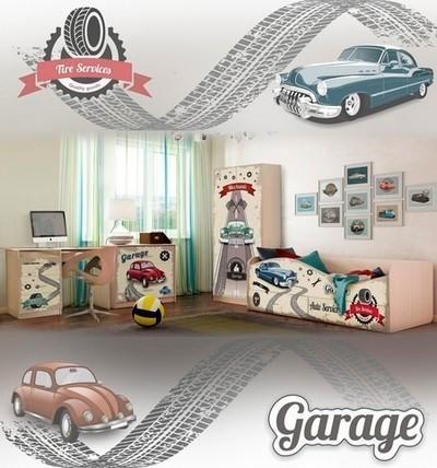 Детская мебель «Ретро машины»