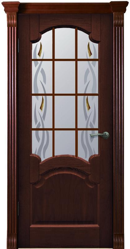 Дверь ДЛ 31 Красное дерево