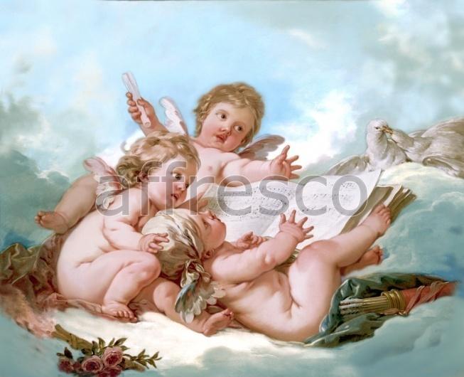"""Фреска """"Ангелочки в облаках"""""""