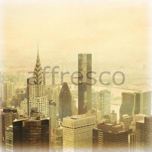 """Фреска """"Вид на современный город"""""""