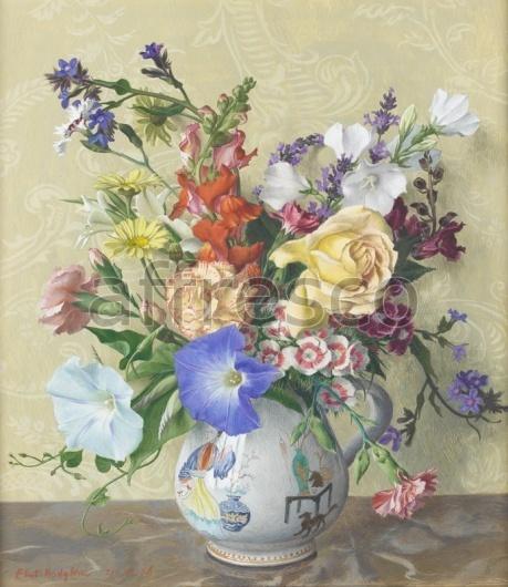 """Фреска """"Цветочная ваза"""""""