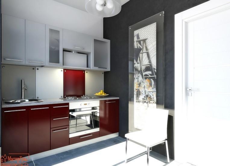 Кухня Модель 28 бордовый глянец