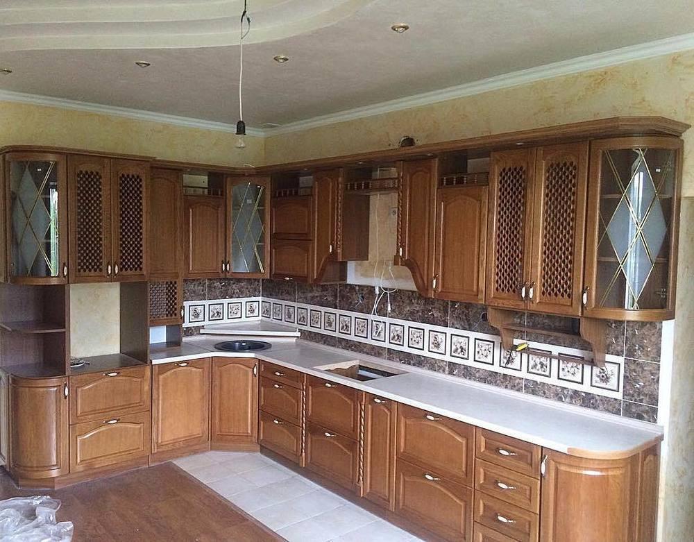 Кухонный гарнитур Дуб 3. Массив