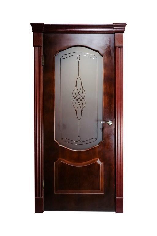 Дверь ДЛ 208 ПО Красное дерево