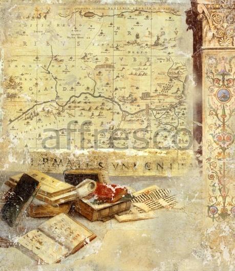 """Фреска """"Книги, карта"""""""