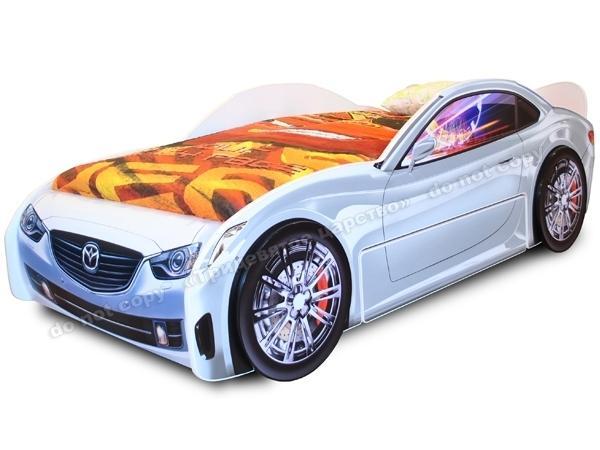 Кровать-машина ЛИДЕР белая