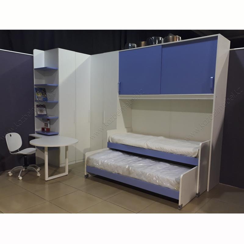 Мебель в детскую спальню на двоих детей, с рабочим столом