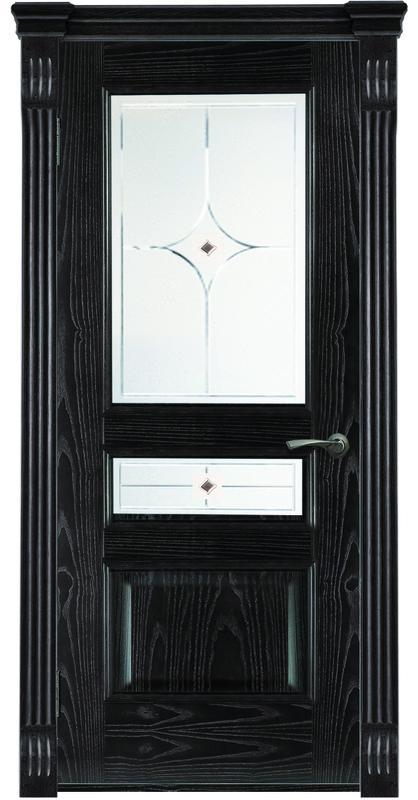 Дверь ДЛ 141 Черное серебро