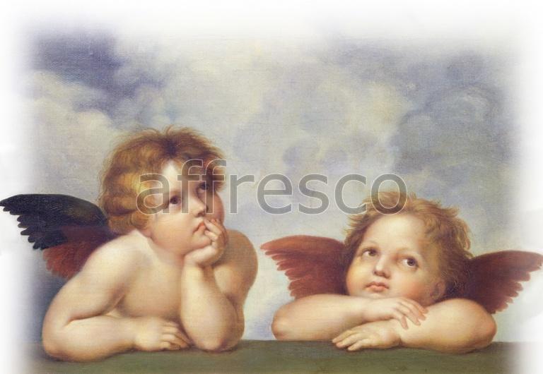 "Фреска ""Взгляд ангелочков"""