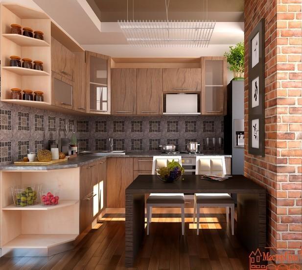 Кухня Модель 17 Корпус Груша Дикая