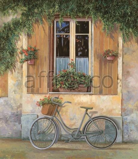"""Фреска """"Велосипед у окна"""""""