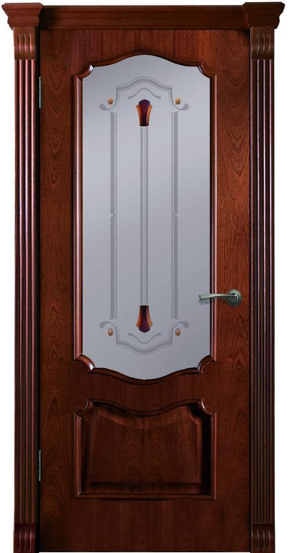 Дверь ДЛ 20 ПО Красное дерево
