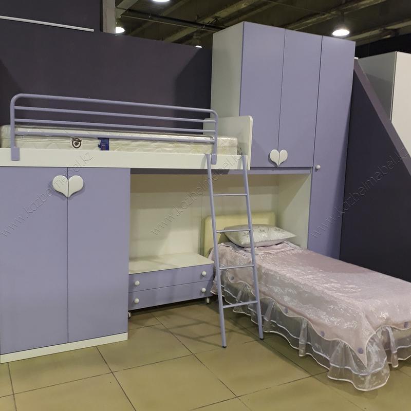 Итальянский детский гарнитур EKIN, с двухъярусной кроватью