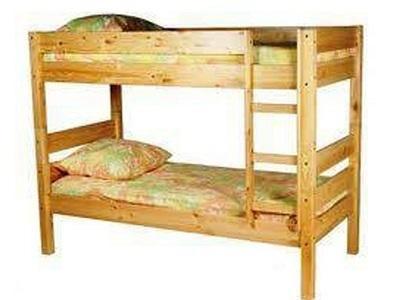 """Двухъярусная кровать """"Уве"""", из массива сосны"""