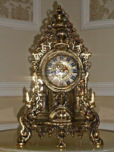 Часы натуральная бронза