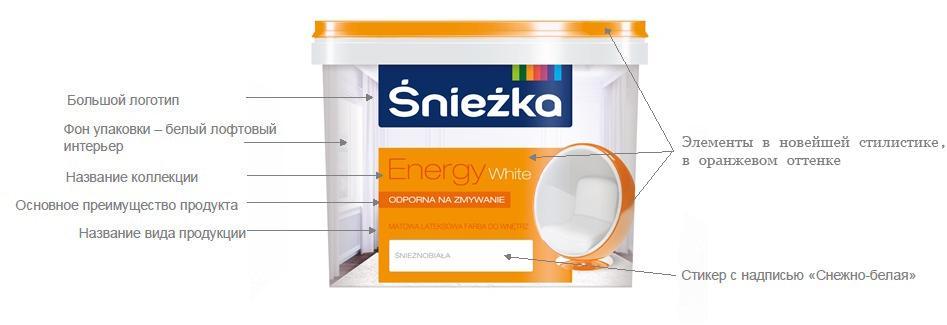 """Краска """"Снежка energy white"""""""