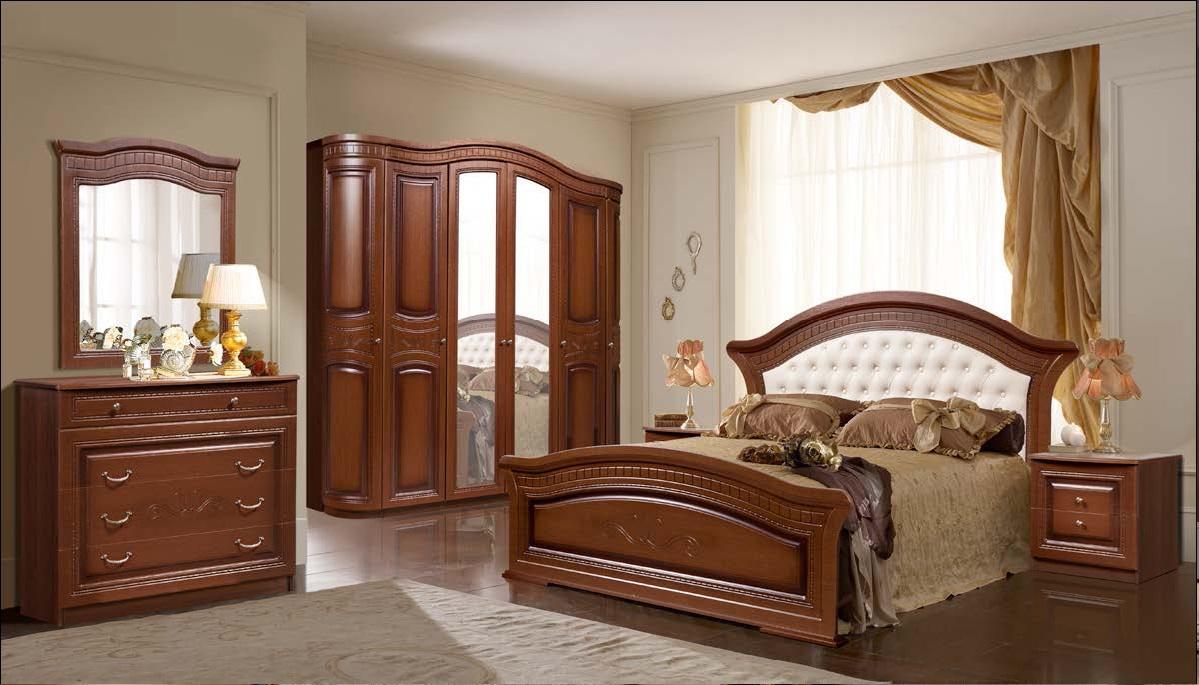 Любава Спальня 6Д  орех